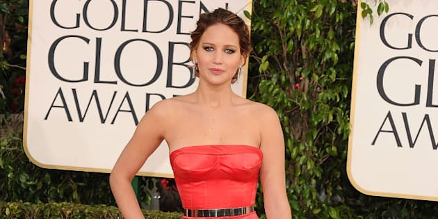BEVERLY HILLS, CA - JANUARY 13:  Jennifer Lawrence arrives at the 70th Annual Golden Globe Awards at The Beverly Hilton Hotel on January 13, 2013 in Beverly Hills, California.  (Photo by Steve Granitz/WireImage)