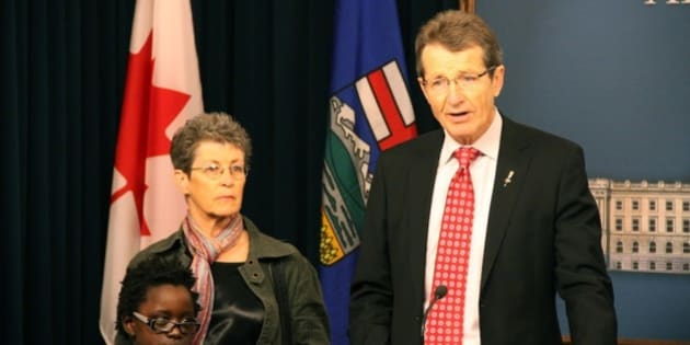 Liberal leader David Swann announces his intentions to resign as leader after the 2011 Spring Session of the Alberta Legilslative Assembly (Photo taken February 1, 2011)
