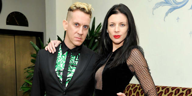 LOS ANGELES, CA - JANUARY 09:  Fashion designer Jeremy Scott and model Liberty Ross attend the W Magazine celebration of The 'Best Performances' Portfolio and The Golden Globes with Cadillac and Dom Perignon at Chateau Marmont on January 9, 2014 in Los Angeles, California.  (Photo by John Sciulli/Getty Images for W Magazine)