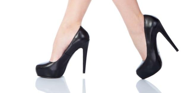 sexy female legs in classical...