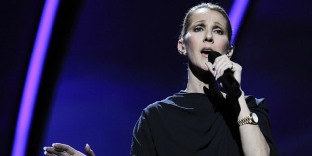 Singer, Céline Dion rehearses at the Kodak Theatre in the Hollywood section of Los Angeles, Friday, Feb. 25, 2011. The 83rd Academy Awards airs Sunday. (AP Photo/Chris Carlson)