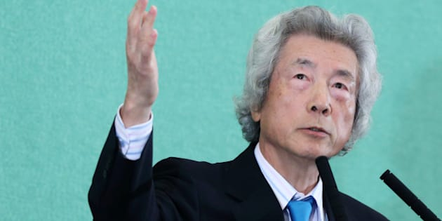 Junichiro Koizumi, former Japan prime minister, gestures as he speaks during a news conference at the Japan National Press Club in Tokyo, Japan, on Tuesday, Nov. 12, 2013. Prime Minister Shinzo Abe faces another prominent opponent to his plans to return to nuclear power after the Fukushima disaster, as Koizumi called for Japan to immediately abandon its reactors. Photographer: Tomohiro Ohsumi/Bloomberg via Getty Images