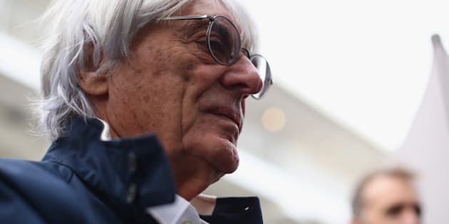 AUSTIN, TX - NOVEMBER 14:  F1 supremo Bernie Ecclestone arrives in the paddock during previews to the United States Formula One Grand Prix at Circuit of The Americas on November 14, 2013 in Austin, United States.  (Photo by Paul Gilham/Getty Images)