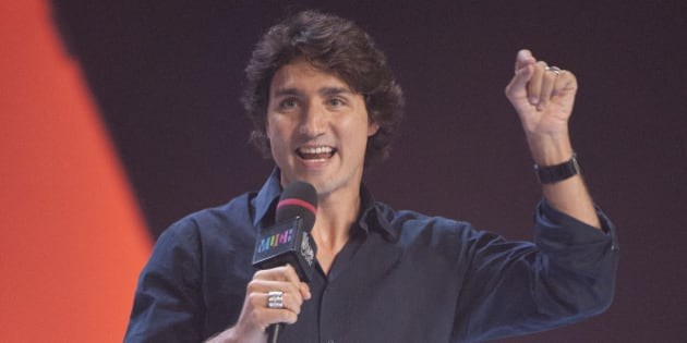 Justin Trudeau speaks during We Day at Air Canada Centre on Friday, Sept. 28, 2012, in Toronto. (Photo by Arthur Mola/Invision/AP)