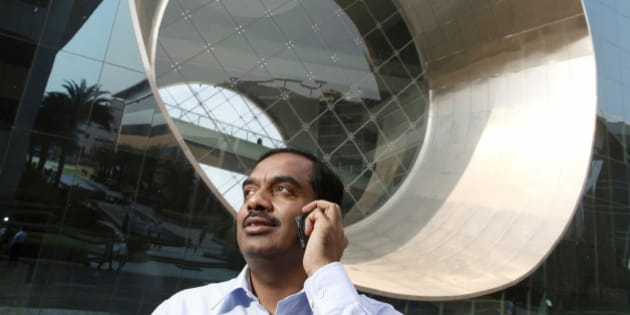 V. Balakrishnan, chief financial officer of Infosys Ltd., poses for a photograph at the Infosys headquarters in Bangalore, India, on Wednesday, Feb. 29, 2012. Infosys is India's second-largest software exporter. Photographer: Namas Bhojani/Bloomberg via Getty Images
