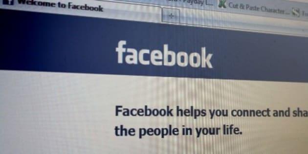 The Facebook login as seen in December 2010