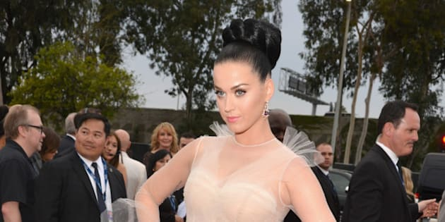 LOS ANGELES, CA - JANUARY 26:  Recording artist Katy Perry attends the 56th GRAMMY Awards at Staples Center on January 26, 2014 in Los Angeles, California.  (Photo by Lester Cohen/WireImage)
