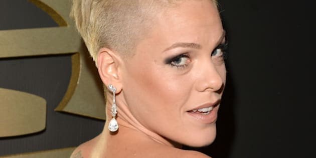LOS ANGELES, CA - JANUARY 26:  Singer/songwriter Pink attends the 56th GRAMMY Awards at Staples Center on January 26, 2014 in Los Angeles, California.  (Photo by Lester Cohen/WireImage)