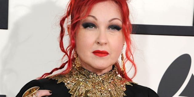 LOS ANGELES, CA - JANUARY 26:  Cyndi Lauper arrivals at the 56th GRAMMY Awards on January 26, 2014 in Los Angeles, California.  (Photo by Steve Granitz/WireImage)