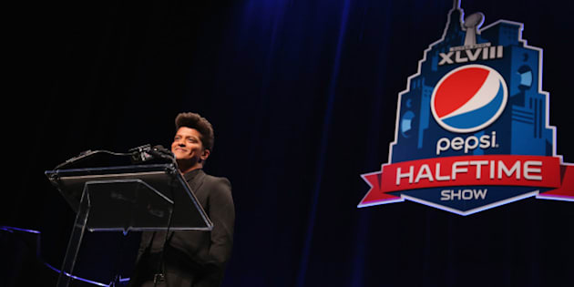 NEW YORK, NY - JANUARY 30:  Bruno Mars attends the Pepsi Super Bowl XLVIII Halftime Show Press Conference at Rose Theater, Jazz at Lincoln Center on January 30, 2014 in New York City.  (Photo by Al Pereira/FilmMagic)