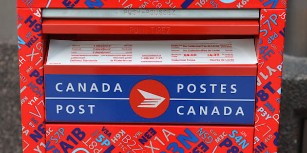 TORONTO, ON - APRIL 20:  A Canada Post Mail box.        (Carlos Osorio/Toronto Star via Getty Images)