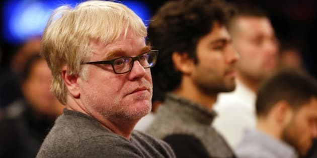 NEW YORK, NY - DECEMBER 25: American film actor Philip Seymour Hoffman looks on as the Oklahoma City Thunder play the New York Knicks during an NBA basketball game at Madison Square Garden on December 25, 2013 in New York City. The Thunder defeated the Knicks 123-94. NOTE TO USER: User expressly acknowledges and agrees that, by downloading and/or using this photograph, user is consenting to the terms and conditions of the Getty Images License Agreement. (Photo by Rich Schultz /Getty Images)