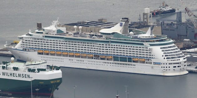 BAYONNE, NJ - JANUARY 31:  The Royal Caribbean cruise ship 'Explorer of the Seas' sits in port after more than 600 people became sick during a cruise on January 31, 2014 in Bayonne, New Jersey. The stomach sickness broke out three days into a scheduled 10-day tour. (Photo by John Moore/Getty Images)