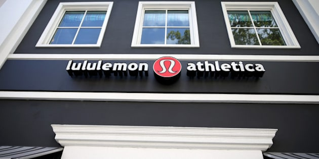 MIAMI, FL - DECEMBER 10:  A sign hangs on a Lululemon Athletica on December 10, 2013 in Miami, Florida. Lululemon Athletica, Inc. named Laurent Potdevin as their new chief executive and said founder Chip Wilson will step down as chairman after Wilson recently issued a formal apology for remarks he made about how 'some women's bodies just don't actually work' for his company's yoga pants.  (Photo by Joe Raedle/Getty Images)