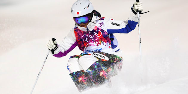 SOCHI, RUSSIA - FEBRUARY 08:  Aiko Uemura of Japan competes in the Ladies' Moguls Final 2 on day 1 of the Sochi 2014 Winter Olympics at Rosa Khutor Extreme Park on February 8, 2014 in Sochi, Russia.  (Photo by Cameron Spencer/Getty Images)