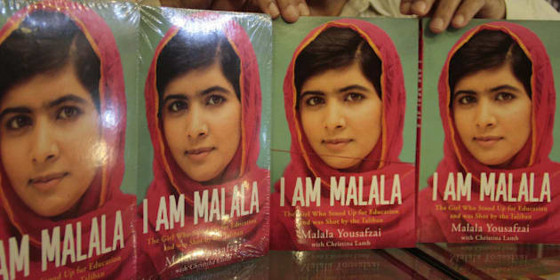ISLAMABAD, PAKISTAN - OCTOBER 8: Pakistani teenager activist Malala Yousafzai's book, 'I Am Malala' seen in a bookstore on October 8, 2013, in Islamabad, Pakistan, on the eve of the first anniversary of an attack on her by Taliban. Malala Yousafzai, an activist for girls' education and a contender to win the Nobel Peace Prize later this week, The autobiography ''I Am Malala'' written with the British journalist Christina Lamb published around the world on Tuesday. (Muhammad Reza - Anadolu Agency)