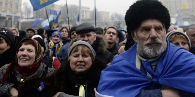 KIEV, UKRAINE - FEBRUARY 9:  The anti-government protests keep going on in Kiev, Ukraine, February 9, 2014. (Photo by Burak Akbulut/Anadolu Agency/Getty Images)