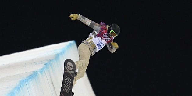 US snowboarder Shaun White takes part in a Men's Snowboard Halfpipe training session at the Rosa Khutor Extreme Park during the Sochi Winter Olympics on February 9, 2014.  AFP PHOTO / FRANCK FIFE        (Photo credit should read FRANCK FIFE/AFP/Getty Images)