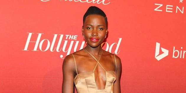 BEVERLY HILLS, CA - FEBRUARY 10: Lupita Nyong'o attends the The Hollywood Reporter's Nominee Party held at Spago on February 10, 2014 in Beverly Hills, California. (Photo by JB Lacroix/WireImage)