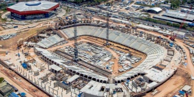 Manaus, AM - Obras da Arena Amazônia. (Foto: Divulgação/Portal da Copa)