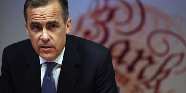 Governor of the Bank of England Mark Carney speaks during the bank's inflation report news conference in London on February 12, 2014.  The Bank of England ramped up its 2014 British economic growth forecast, and tweaked its forward guidance on interest rates. Gross domestic product was set to grow by 3.4 percent this year, a chart in the bank's latest report showed.  AFP PHOTO/POOL/ Dan Kitwood        (Photo credit should read Dan Kitwood/AFP/Getty Images)