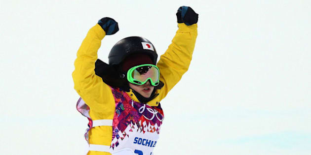 SOCHI, RUSSIA - FEBRUARY 12:  Rana Okada of Japan celebrates after completing her run in the Snowboard Women's Halfpipe Finals on day five of the Sochi 2014 Winter Olympics at Rosa Khutor Extreme Park on February 12, 2014 in Sochi, Russia.  (Photo by Cameron Spencer/Getty Images)
