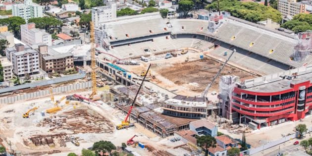 Curitiba, Dezembro de 2012 - Obras da Arena da Baixada. (Foto: Portal da Copa)