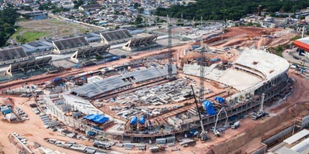 Manaus, Dezembro de 2012 - Obras da Arena da Amazônia. (Foto: Portal da Copa)
