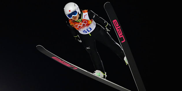 SOCHI, RUSSIA - FEBRUARY 11: Sara Takanashi of Japan jumps during the Ladies' Normal Hill Individual first round on day 4 of the Sochi 2014 Winter Olympics at the RusSki Gorki Ski Jumping Center on February 11, 2014 in Sochi, Russia.  (Photo by Ezra Shaw/Getty Images)