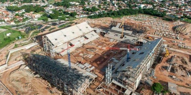 Cuiabá, Dezembro de 2012 - Obras da Arena do Pantanal. (Foto: Portal da Copa)