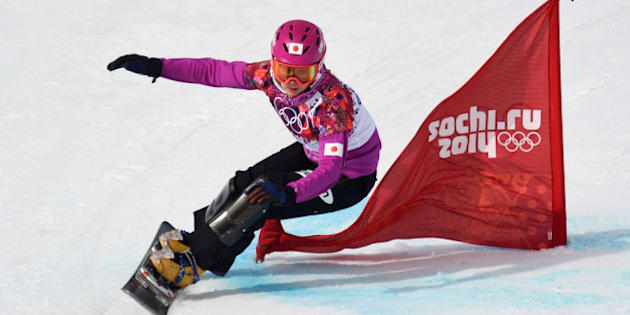 SOCHI, RUSSIA - FEBRUARY 19:  Tomoka Takeuchi of Japan competes in the Snowboard Ladies' Parallel Giant Slalom Qualification on day twelve of the 2014 Winter Olympics at Rosa Khutor Extreme Park on February 19, 2014 in Sochi, Russia.  (Photo by Lars Baron/Getty Images)