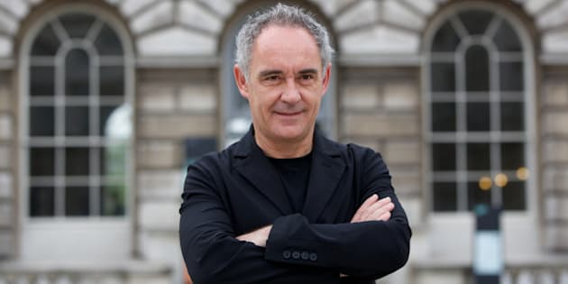 Spanish chef Ferran Adria poses in front of Somerset House at the launch of a new exhibition El Bulli: Ferran Adria and the Art of Food in London on July 4, 2013. The exhibition at Somerset House is a multimedia homage to the creativity and innovative skills of the legendary Catalan Spanish chef. AFP PHOTO / ANDREW COWIE        (Photo credit should read ANDREW COWIE/AFP/Getty Images)