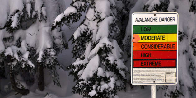 """Avalanche Hazard Sign  This photo from <a href=""""http://www.VancityAllie.com"""">www.VancityAllie.com</a> 's blog."""