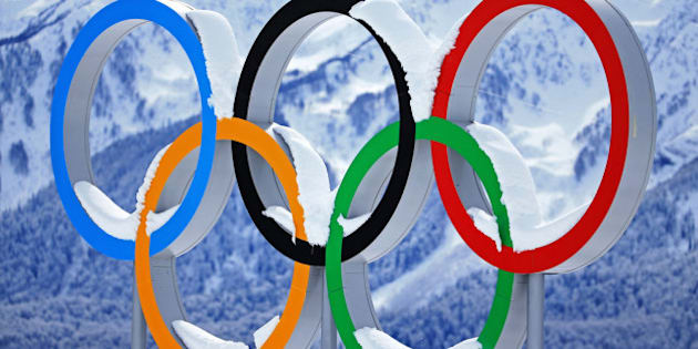 SOCHI, RUSSIA - FEBRUARY 19:  Snow collects on the Olympic Rings during day 12 of the 2014 Sochi Winter Olympics at Laura Cross-country Ski & Biathlon Center on February 19, 2014 in Sochi, Russia.  (Photo by Richard Heathcote/Getty Images)