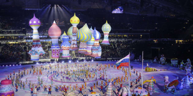 2014 WINTER OLYMPIC GAMES -- 'Opening Ceremony' -- Pictured: Opening ceremony of the 2014 Sochi Winter Olympics Games in Sochi, Russia on February 7, 2014 --  (Photo by: Paul Drinkwater/NBC/NBCU Photo Bank via Getty Images)