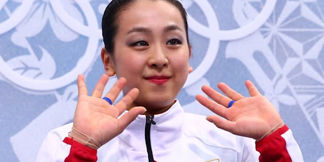 SOCHI, RUSSIA - FEBRUARY 20:  Mao Asada of Japan waits for her score in the Figure Skating Ladies' Free Skating on day 13 of the Sochi 2014 Winter Olympics at Iceberg Skating Palace on February 20, 2014 in Sochi, Russia.  (Photo by Ryan Pierse/Getty Images)