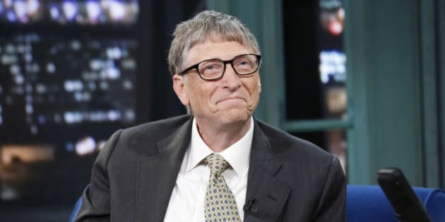 LATE NIGHT WITH JIMMY FALLON -- Episode 956 -- Pictured: Microsoft founder Bill Gates on Tuesday, January 21, 2014 -- (Photo by: Lloyd Bishop/NBC/NBCU Photo Bank via Getty Images)