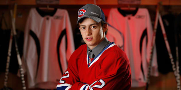 PITTSBURGH, PA - JUNE 23:  Tim Bozon, 64th overall pick by the Montreal Canadiens, poses for a portrait during the 2012 NHL Entry Draft at Consol Energy Center on June 23, 2012 in Pittsburgh, Pennsylvania.  (Photo by Gregory Shamus/NHLI via Getty Images)