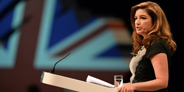 British business woman Karen Brady speaks during the Conservative Party Conference in Manchester, north-west England on September 30, 2013.  Britons who are out of work for several years will be required to work full-time on community projects to receive state unemployment payments, finance minister George Osborne will announce at the party's annual conference in Manchester, northwest England, in a bid to woo traditional conservative voters ahead of the 2015 general election.  AFP PHOTO/Paul Ellis        (Photo credit should read PAUL ELLIS/AFP/Getty Images)