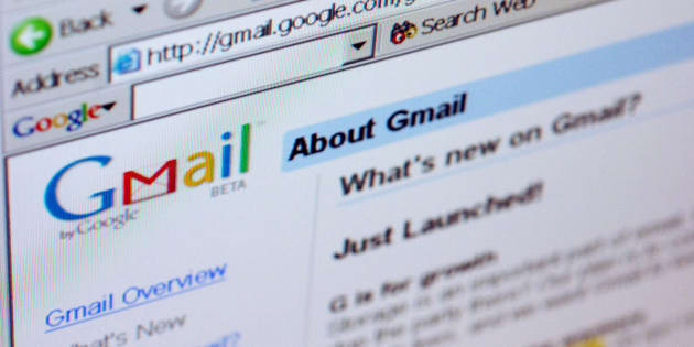 UNITED STATES - APRIL 01:  The Gmail logo is pictured on the top of a Gmail.com welcome page in New York Friday, April 1, 2005.  (Photo by Daniel Acker/Bloomberg via Getty Images)