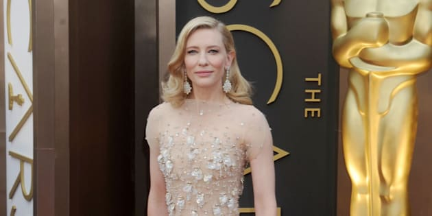 HOLLYWOOD, CA - MARCH 02: Actress Cate Blanchett arrives at the 86th Annual Academy Awards at Hollywood & Highland Center on March 2, 2014 in Hollywood, California.  (Photo by Gregg DeGuire/WireImage)