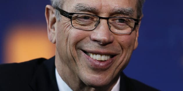 Joe Oliver, Canada's natural resources minister, smiles following an interview during the 2014 IHS CERAWeek conference in Houston, Texas, U.S., on Tuesday, March 4, 2014. IHS CERAWeek is a gathering of senior energy decision-makers from around the world to focus on the accelerating pace of change in energy markets, technologies, geopolitics, and the emerging playing field. Photographer: Aaron M. Sprecher/Bloomberg via Getty Images