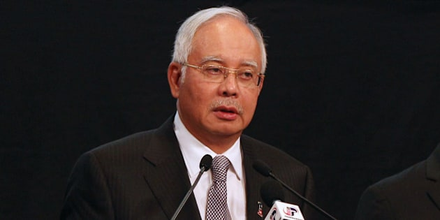 Left to right, Azharuddin Abdul Rahman, director general of Malaysia's Department of Civil Aviation, Najib Razak, Malaysia's prime minister, Hishammuddin Hussein, Malaysia's acting transport minister, and Anifah Aman, Malaysia's minister of foreign affairs, attend a news conference in Kuala Lumpur, Malaysia, on Monday, March 24, 2014. Investigators concluded that Malaysian Air Flight 370 crashed in the southern Indian Ocean, ruling out theories of a detour over Asia, even as the search for wreckage from the jetliner drags on. Photographer: Goh Seng Chong/Bloomberg via Getty Images