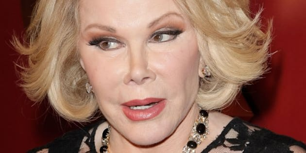 BEVERLY HILLS, CA - FEBRUARY 28:  Joan Rivers attends the QVC 5th annual red carpet style event at The Four Seasons Hotel on February 28, 2014 in Beverly Hills, California.  (Photo by Tibrina Hobson/WireImage)