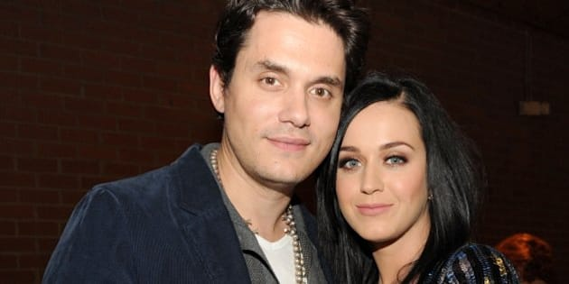 CULVER CITY, CA - JANUARY 28:  Recording artists John Mayer (L) and Katy Perry attend Hollywood Stands Up To Cancer Event with contributors American Cancer Society and Bristol Myers Squibb hosted by Jim Toth and Reese Witherspoon and the Entertainment Industry Foundation on Tuesday, January 28, 2014 in Culver City, California.  (Photo by Kevin Mazur/Getty Images for Entertainment Industry Foundation)