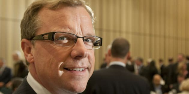 Brad Wall, premier of the province of Saskatchewan, poses during an Economic Club of Canada luncheon meeting in Toronto, Ontario, Canada, on Friday, Oct. 29, 2010. Wall discussed his decision to oppose the Potash Corp. of Saskatchewan Inc. takeover by BHP Billiton Ltd. Potash Corp., the world's largest fertilizer company, dropped the most in four months in New York on speculation the Canadian government will block BHP Billiton's $40 billion hostile takeover offer. Photographer Norm Betts/Bloomberg via Getty Images