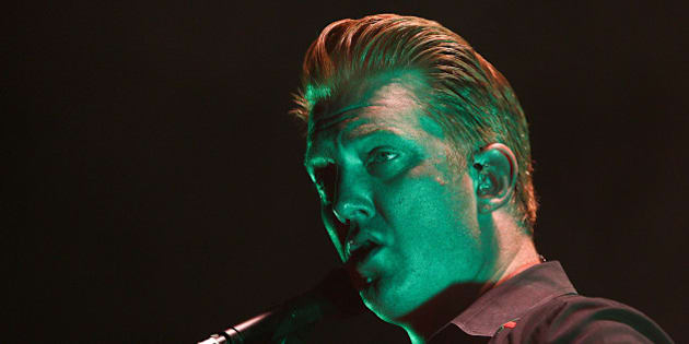 WELLINGTON, NEW ZEALAND - MARCH 20:  Josh Homme of Queens of the Stone Age performs on stage at TSB Arena on March 20, 2014 in Wellington, New Zealand.  (Photo by Hagen Hopkins/Getty Images)