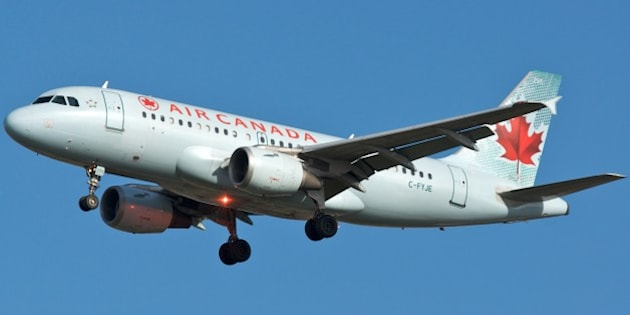 Air Canada A319 C-FYJE about to touch down on 24R