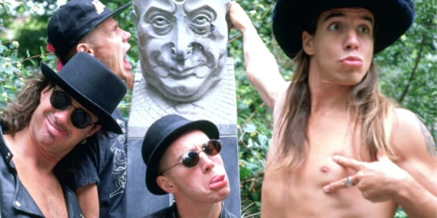 Portrait of the Red Hot Chilli Peppers photographed in the early 1990's.;  (Photo by JA Barratt/Photoshot/Getty Images)