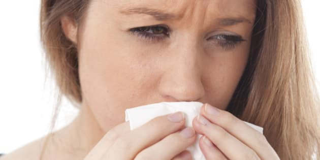 Sneezing Woman. (Photo by: Media for Medical/UIG via Getty Images)